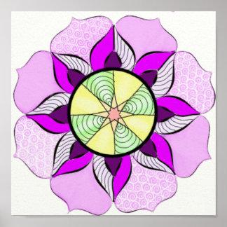 Mandala Flower Print