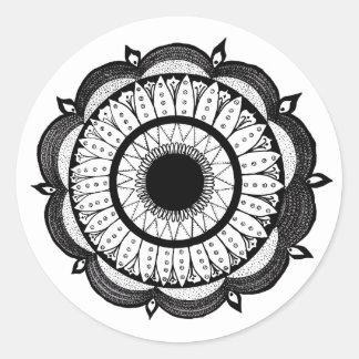 Mandala Flower Round Sticker