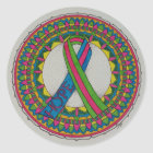 Mandala for Metastatic Breast Cancer Classic Round Sticker