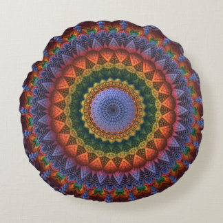 Mandala for the masses round cushion