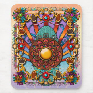 Mandala Four Mouse Pad