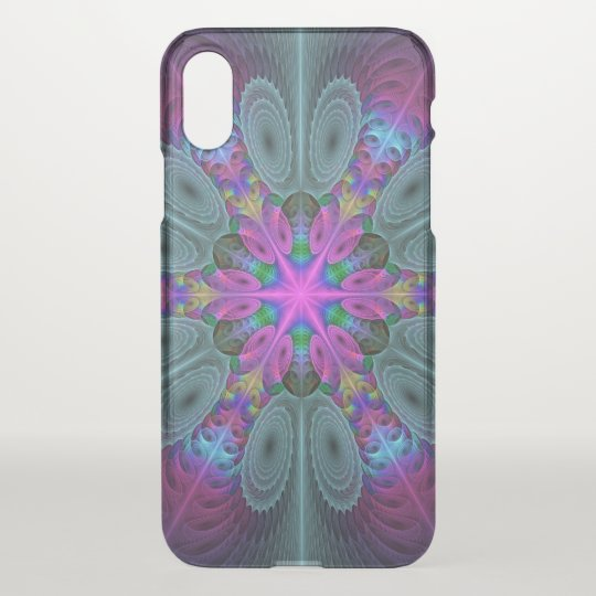 Mandala From Centre Colourful Fractal Art With iPhone X Case