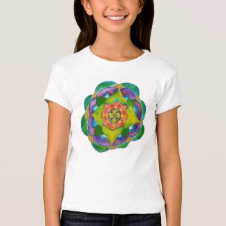 Mandala Girls' Fitted Bella Babydoll Shirt, White T Shirt