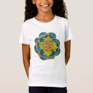 Mandala Girls' Fitted Bella Babydoll Shirt, White T-Shirt