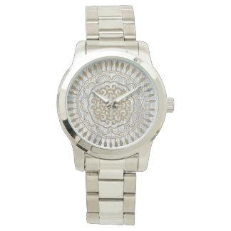 Mandala Gold Design Wristwatch