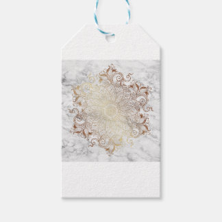 Mandala - Gold & Marble Gift Tags