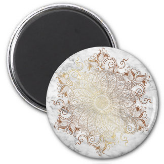 Mandala - Gold & Marble Magnet
