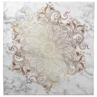 Mandala - Gold & Marble Napkin