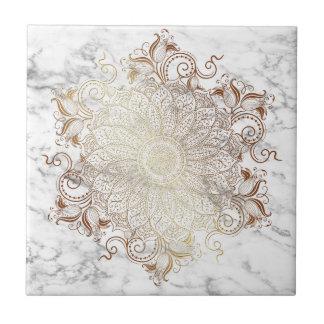 Mandala - Gold & Marble Tile