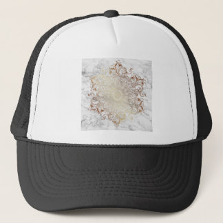 Mandala - Gold & Marble Trucker Hat