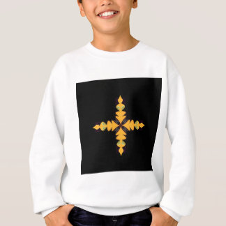 Mandala gold on black sweatshirt