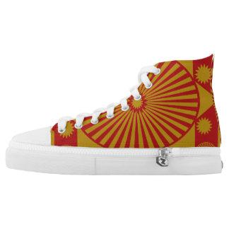 Mandala:  Gold & Rust Printed Shoes