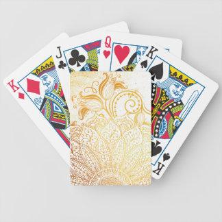 Mandala - Golden brush Bicycle Playing Cards