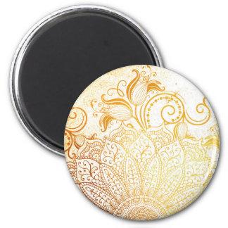 Mandala - Golden brush Magnet