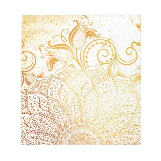 Mandala - Golden brush Notepad