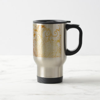 Mandala - Golden brush Travel Mug