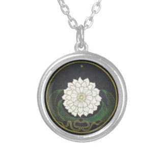Mandala Golden Flower Silver Plated Necklace
