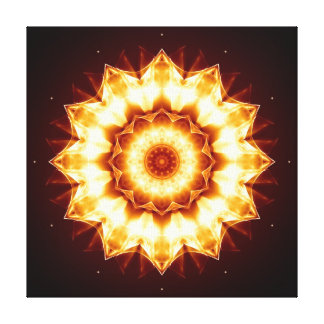 Mandala golden lightning canvas print