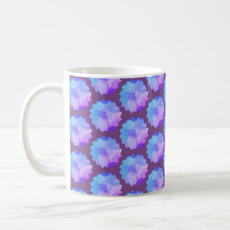 Mandala, hand drawn,  in Pink and Purple Coffee Mug