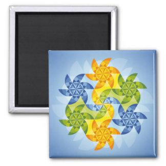 Mandala Heaven's gate Refrigerator Magnets
