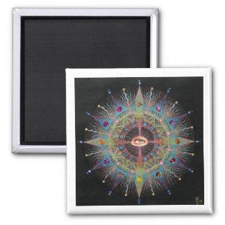 Mandala I Square Magnet