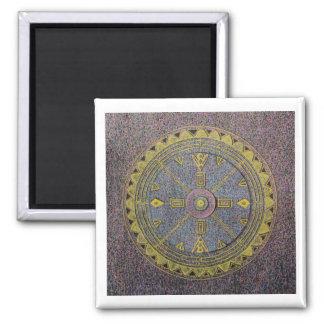 Mandala II Square Magnet