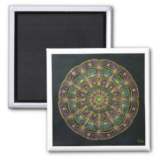 Mandala III Square Magnet