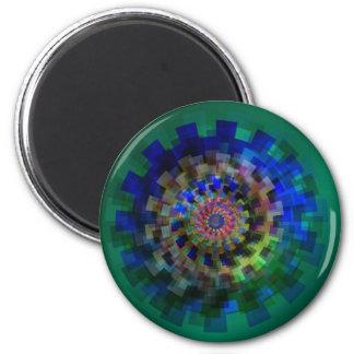Mandala in blue 6 cm round magnet