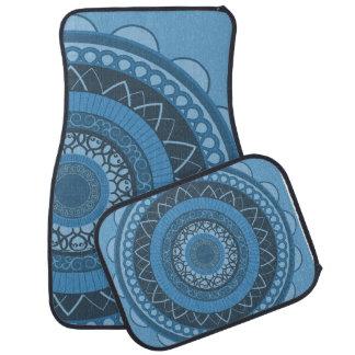 Mandala in Blue Car Mat