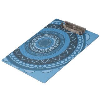 Mandala in Blue Clipboard