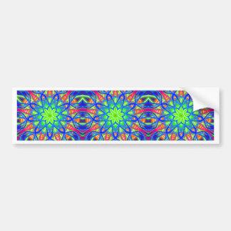 Mandala In Green And Blue Bumper Sticker