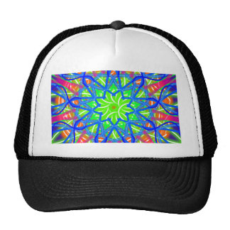 Mandala In Green And Blue Cap