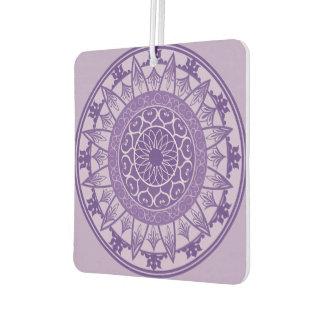 Mandala in Purple Car Air Freshener
