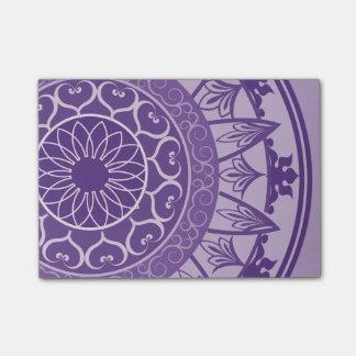 Mandala in Purple Post-it Notes