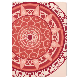 Mandala in Red Clipboard