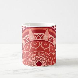 Mandala in Red Coffee Mug