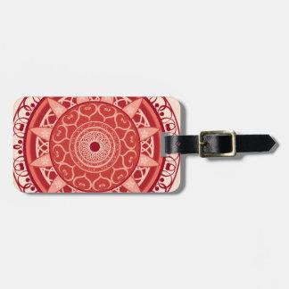 Mandala in Red Luggage Tag
