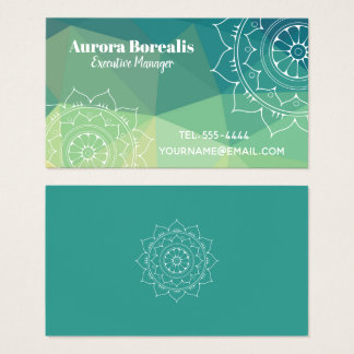 Mandala inspirational geometric business card