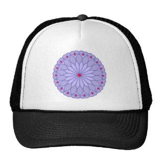 Mandala Inspired Lavender Flower Mesh Hats