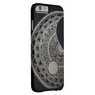 Mandala iPhone case black and white
