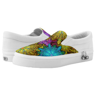 Mandala kaleidoscope slip on sneakers