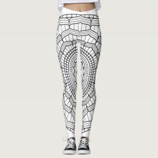 Mandala Leggings. Black and White Mandala Leggings