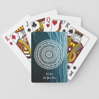 Mandala Let sea set you free Playing Cards