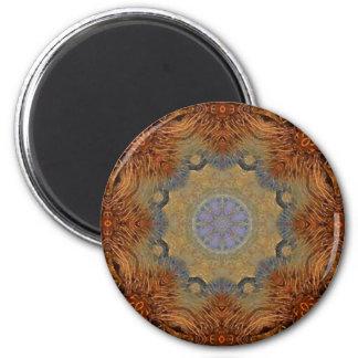 Mandala 'Lioness' 6 Cm Round Magnet