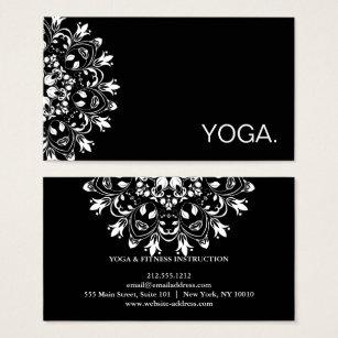 Yoga instructor business cards business card printing zazzle mandala logo customized yoga instructor business card colourmoves