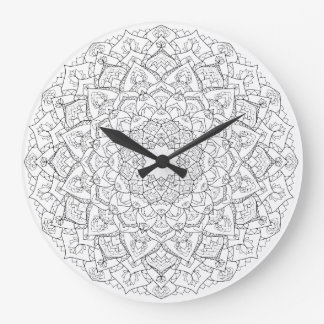 Mandala lotus clock