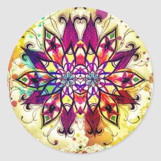 Mandala Magic Classic Round Sticker