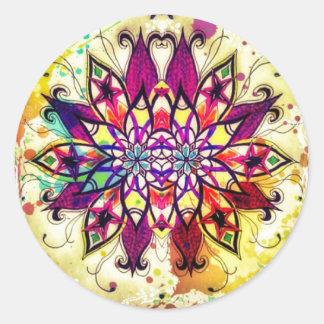 Mandala Magic Round Sticker