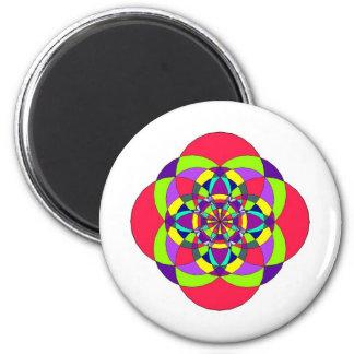 mandala fridge magnet