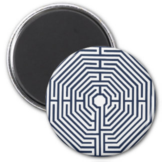 mandala maze 6 cm round magnet